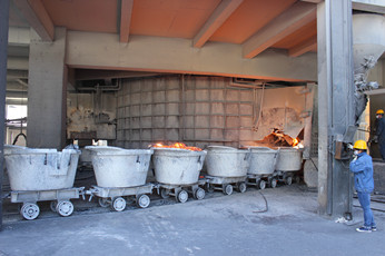 Calcium Carbide:Carbide Pot Transferring