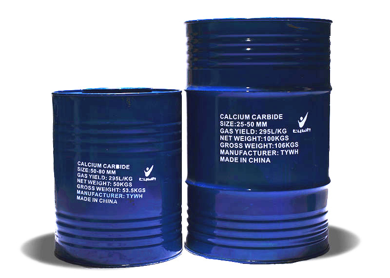 Calcium Carbide:50KG&100KG Blue Packing Drums